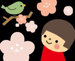 梅の花と女の子